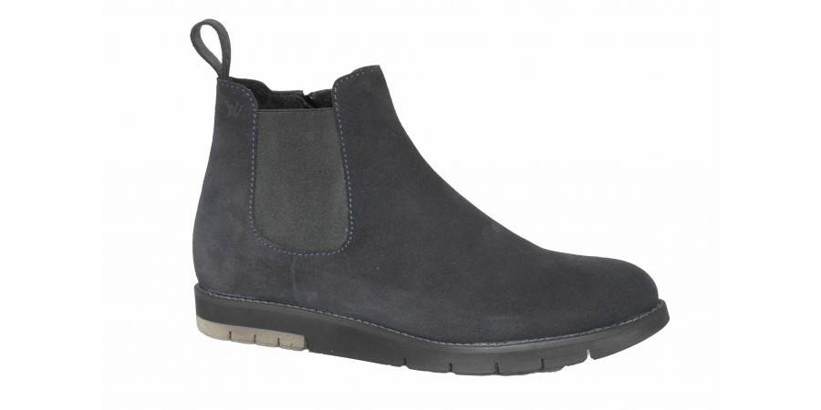Boots - Dark blue suede