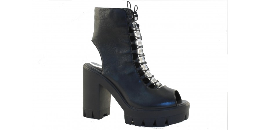 Sandal - Black napa