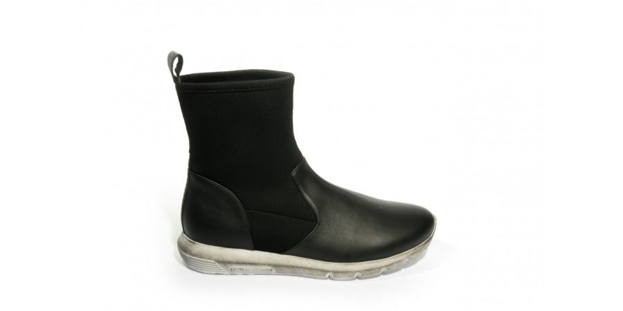 Boots - Black napa , neoprene