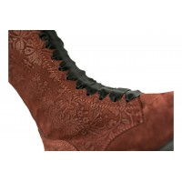 Boots - Red  suede