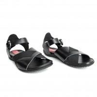 Sandal - Black Napa, Spatzolato