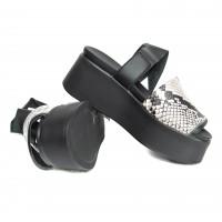 Sandal - Snake - Black Hood
