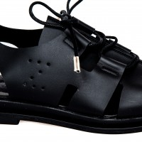Sandal - Black Napa with ties