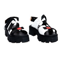 Sandal - White Hood with Red Accent