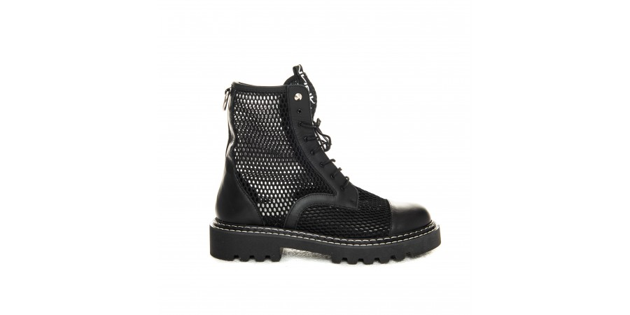 Boots - Black  Net