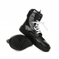 Summer Boot - Black Net, White Links