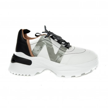 Sneaker - White Napa, Black Napa