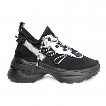 Sneaker - Black Neoprene, Black sole