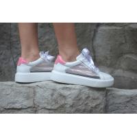 Sneaker - white roses